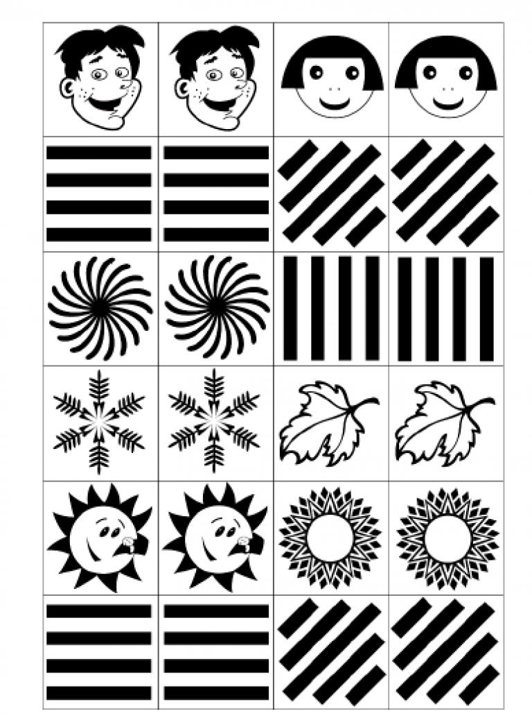 Открыток, черно белый картинки для новорожденных для распечатки