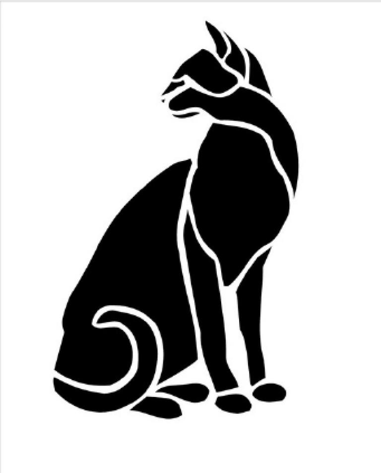 картинки животных черно белые шаблоны срабатывает