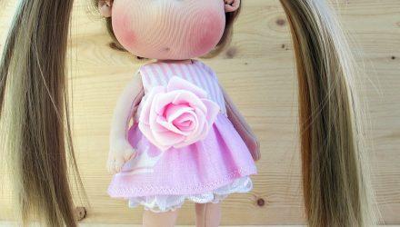 Съемное платье для куклы мастер-класс