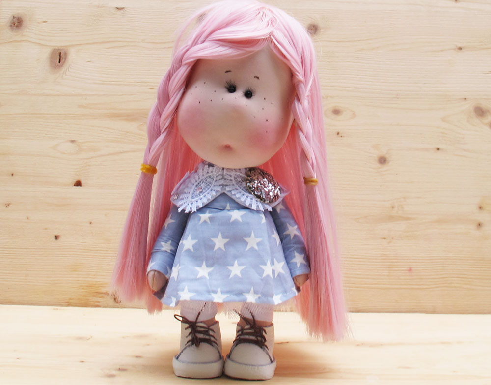 doll fairy with pink hair