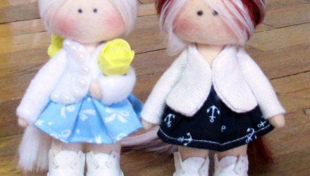 Мастер класс в прямом эфире куколка брелок